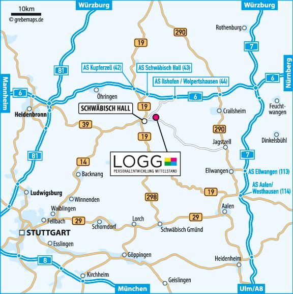 Lageplan erstellen Karte Schwäbisch Hall (LOGG)
