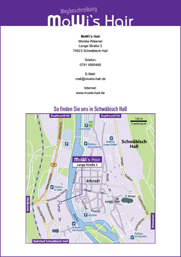 Wegbeschreibung Erstellen Karte Schwäbisch Hall (MoWi's Hair)