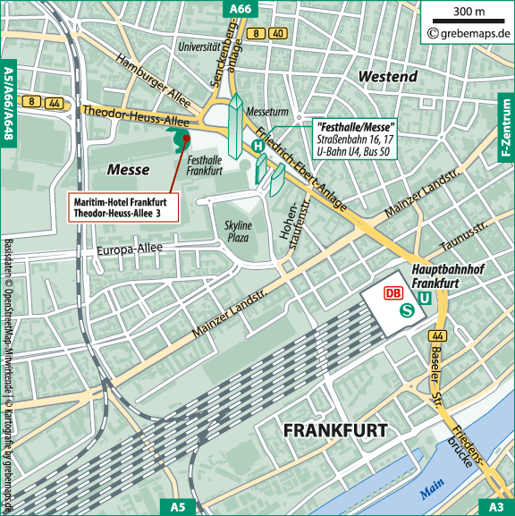 Anfahrtsskizze erstellen Karte Frankfurt (MediClin)
