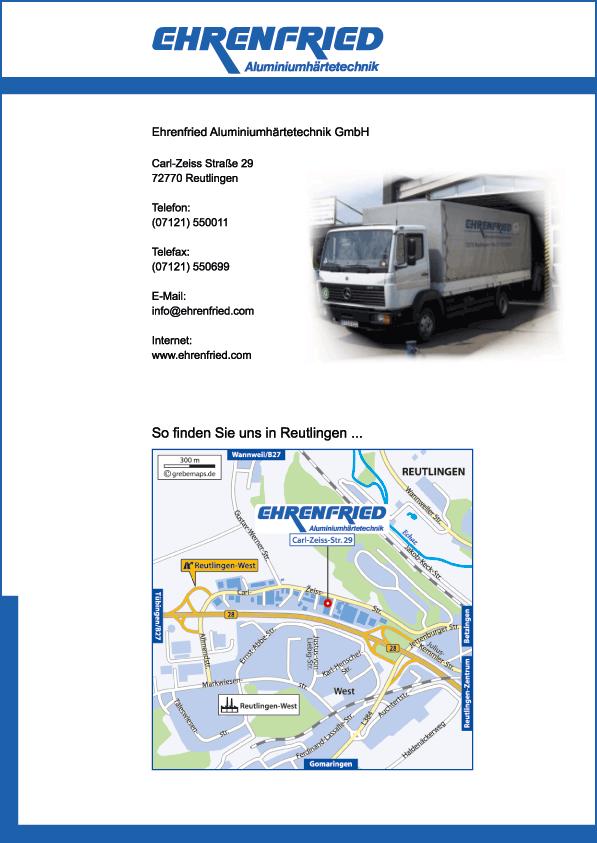 Wegbeschreibung erstellen Karte Reutlingen (EA)