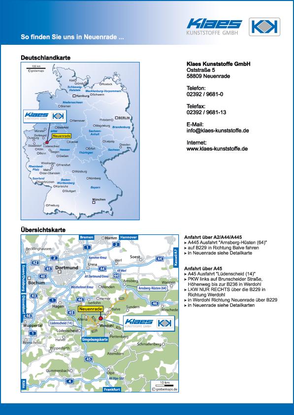 Wegbeschreibung erstellen Karte Neuenrade (KK)