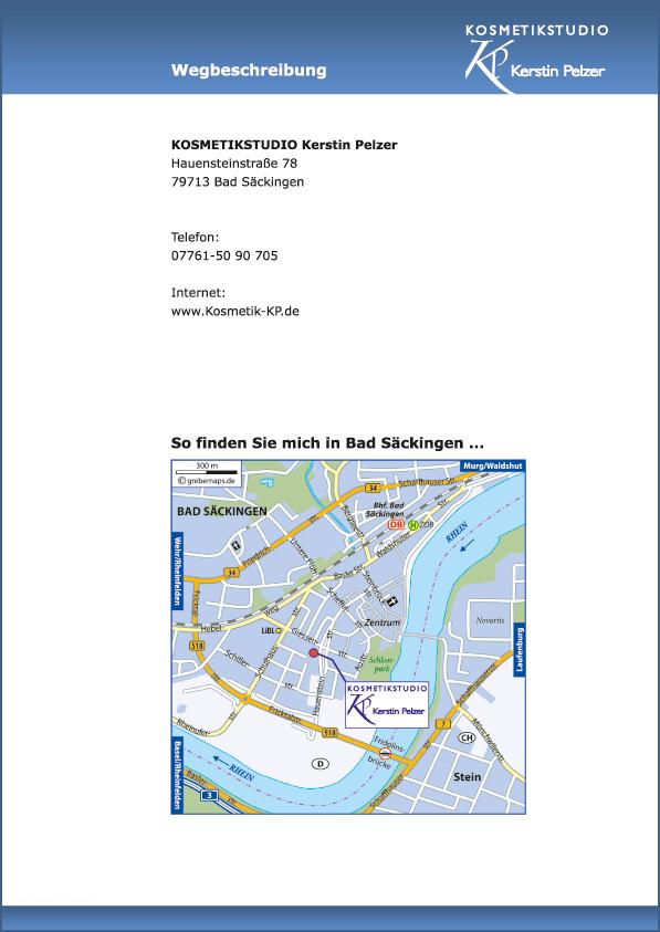 Lageplan erstellen Karte Bad Säckingen (KP)
