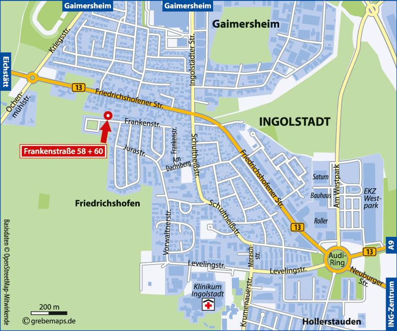 Anfahrtsskizze erstellen Ingolstadt