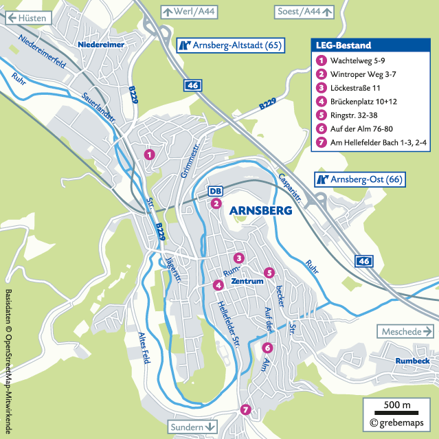 Lageplan erstellen Arnsberg