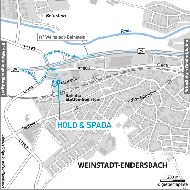 Anfahrtsplan erstellen Weinstadt
