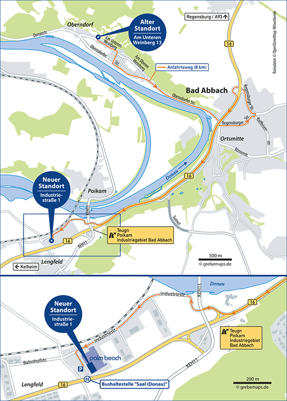 Anfahrtsplan erstellen Bad Abbach