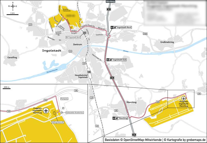 Anfahrtsplan erstellen Ingolstadt