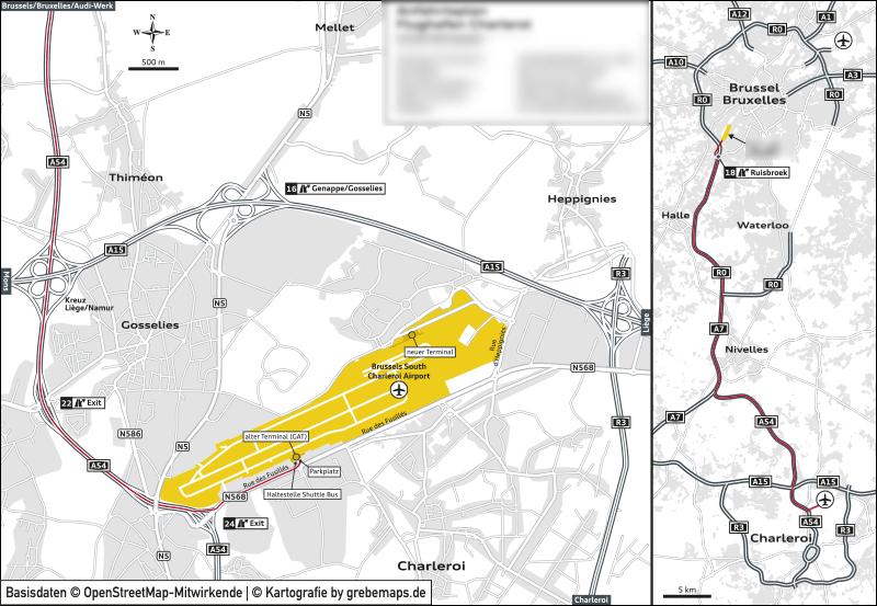 Anfahrtsplan erstellen Brüssel