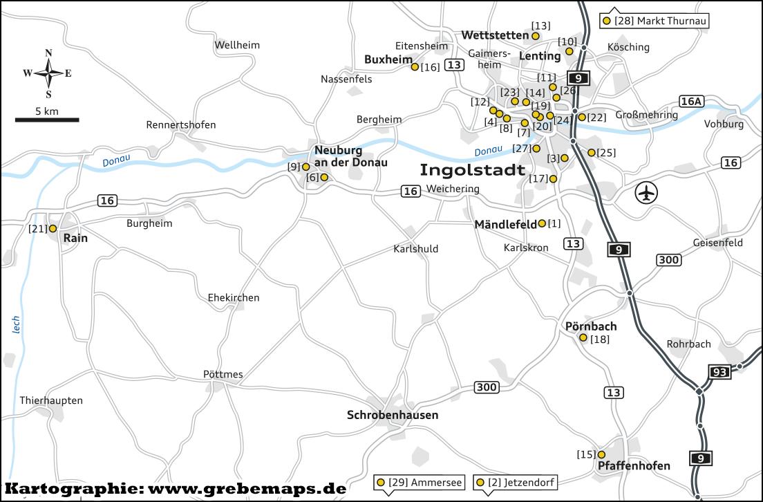 Standortkarte erstellen Ingolstadt