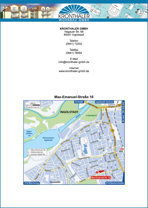 Lageplan erstellen Ingolstadt