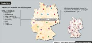 Administrative Karte Deutschland Vektor, Landkreise, Stadtkreise, Gemeinden, Postleitzahlen