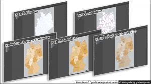 Administrative Karte Deutschland Vektor für Illustrator