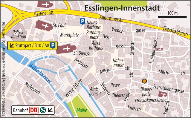 Karte Esslingen