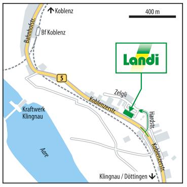 Anfahrtsskizze Landi, Erstellung Anfahrtsskizze für Landi (Schweiz), Anfahrtsskizze erstellen, Anfahrtskarte erstellen für Landi