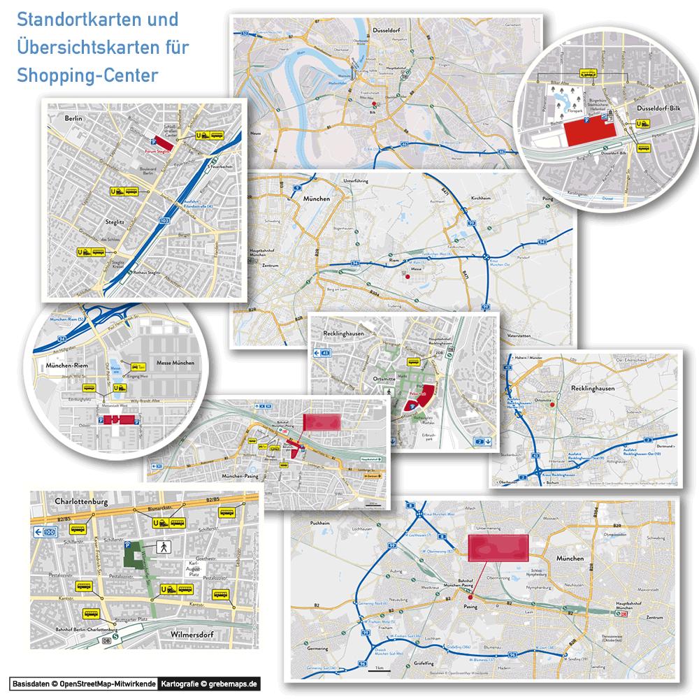 Karten Für Shopping-Center, Standortkarten Und Übersichtskarten Für Shopping-Center, Shopping-Center-Karten, Karten Für Shopping-Center