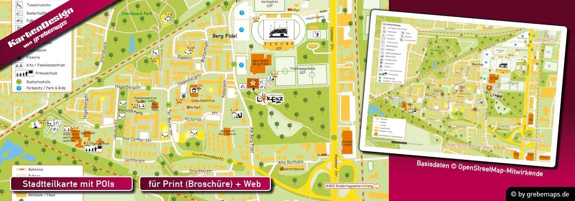 Stadtteilkarte erstellen, Karte Stadtteil erstellen, Karte erstellen