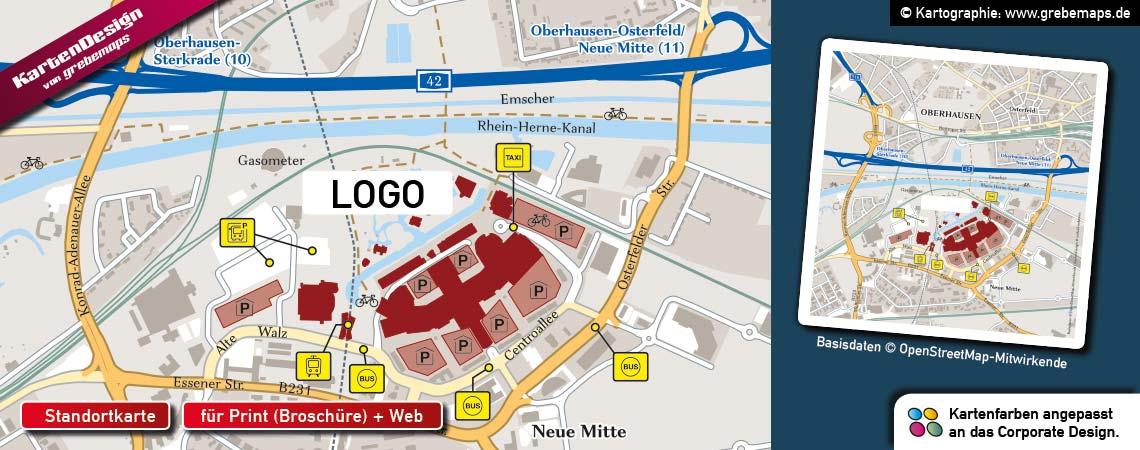 Karten für Immobilien, Standortkarte, Lageplan, Mikrokarte