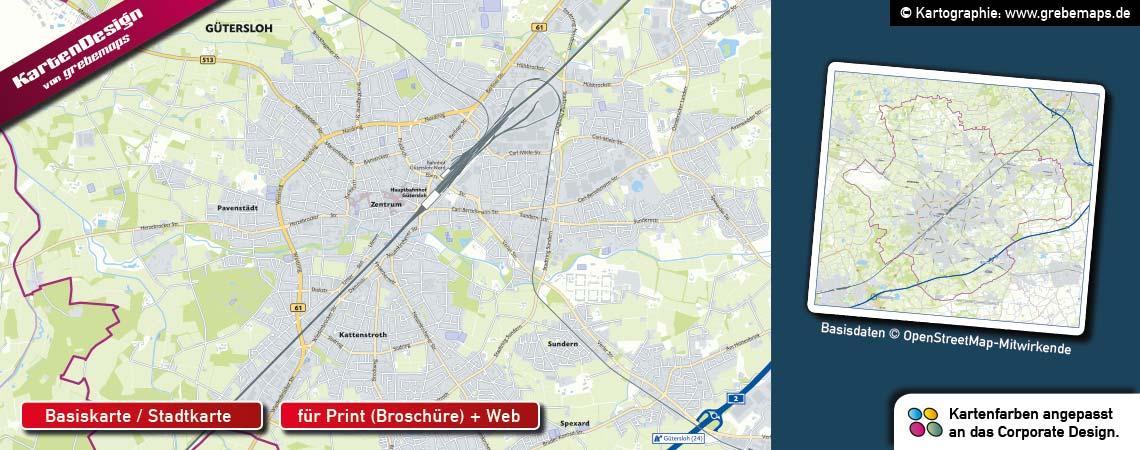 Basiskarte erstellen aus OpenStreetMap-Daten für Immobilien-Unternehmen, Basiskarte für Immobilien-Standorte erstellen