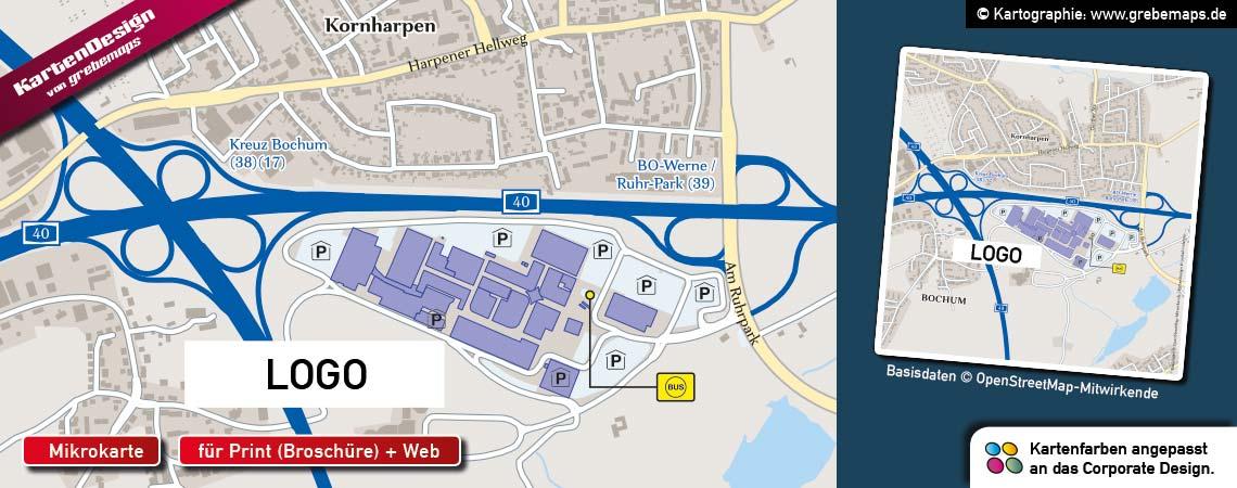 Mikrokarte für ShoppingCenter, Standortkarte erstellen für ShoppingCenter