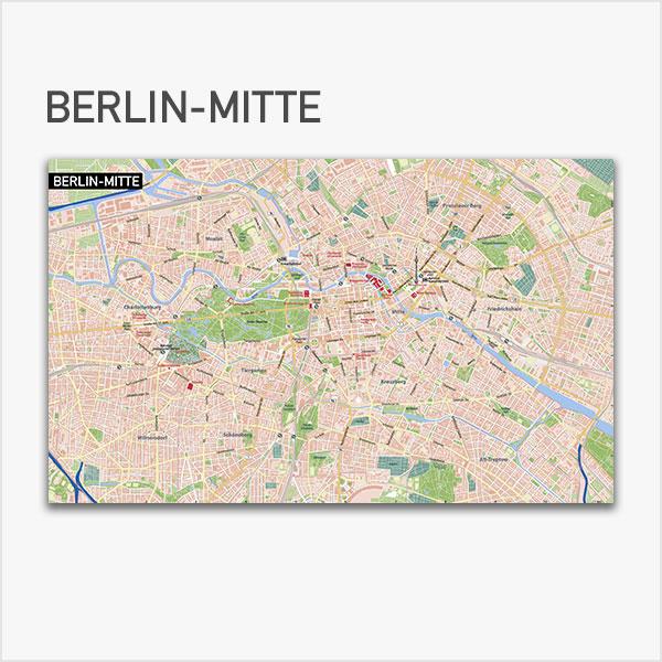 Karte Berlin-Mitte Stadtplan Vektorkarte Berlin-Mitte