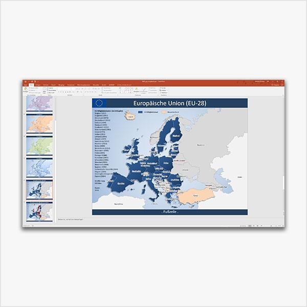 PowerPoint-Karte Europa EU-28 Karte Europa PowerPoint
