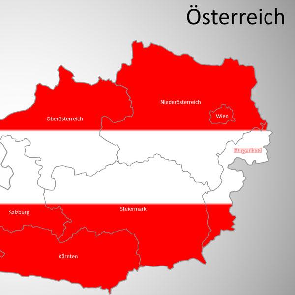 PowerPoint-Karte Österreich Austria Bundesländer