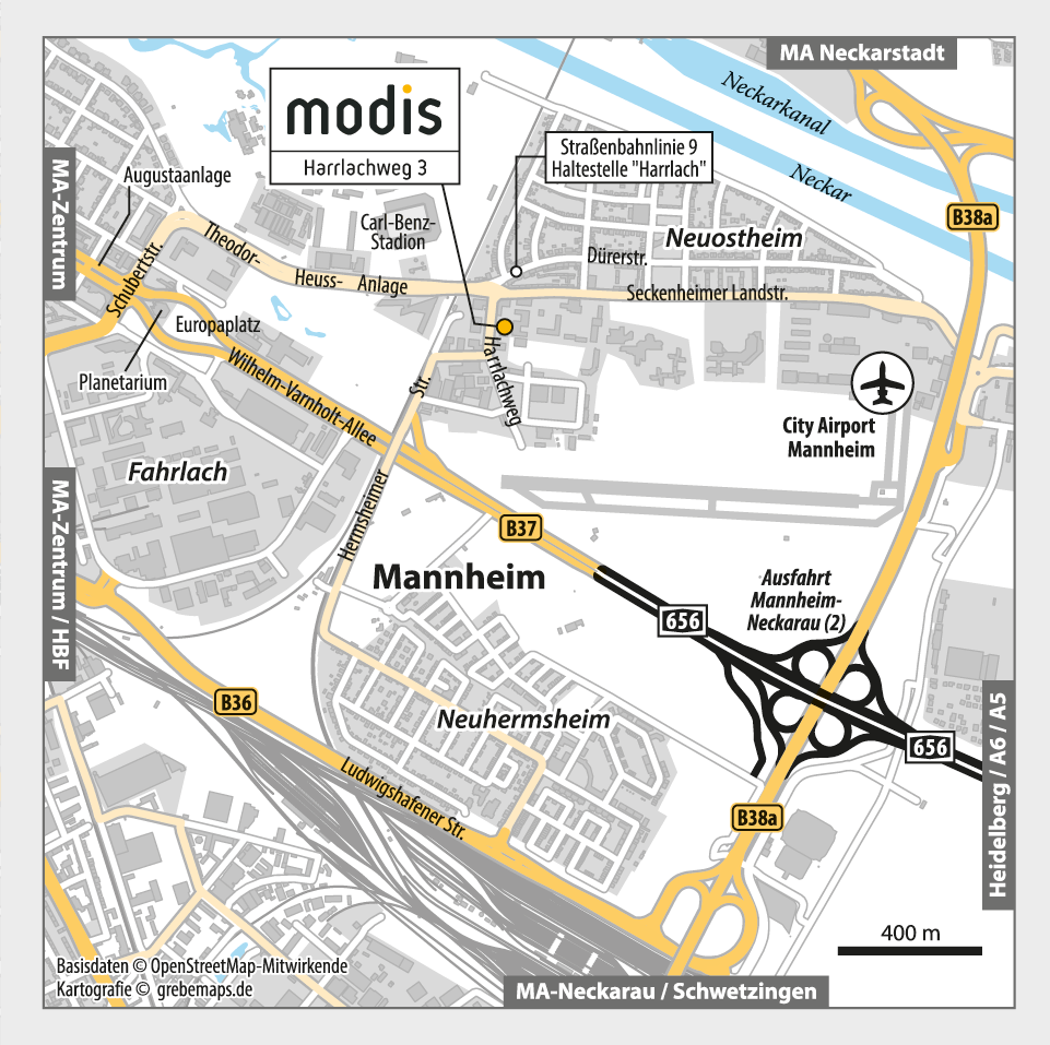 Anfahrtsskizze erstellen Mannheim / Anfahrtskarte erstellen