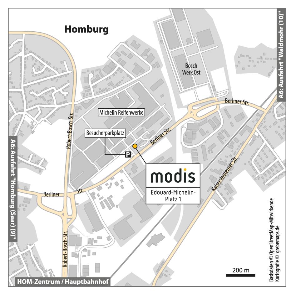 Anfahrtsskizze erstellen Homburg / Anfahrtskarte erstellen