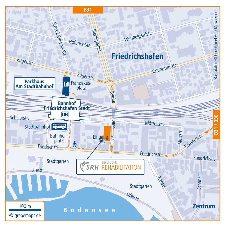 Anfahrtsskizze erstellen Friedrichshafen / Anfahrtskarte erstellen