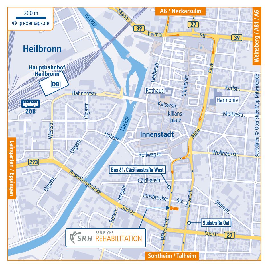Anfahrtsskizze Erstellen Heilbronn, Anfahrtskarte Erstellen, Lageplan Erstellen, Standortkarte Erstellen, Anfahrtsplan Erstellen