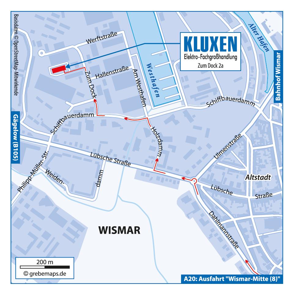 Anfahrtsskizze erstellen Wismar / Anfahrtskarte erstellen