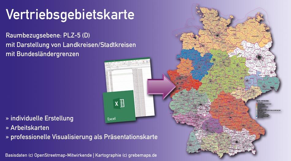 Vertriebsgebietskarte erstellen für Deutschland