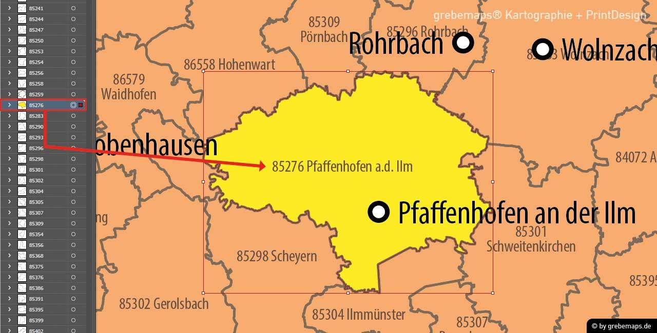 Karte Postleitzahlen Deutschland 5-stellig, PLZ-Karte Deutschland, Karte PLZ 5-stellig Deutschland, Karte PLZ-5 Deutschland